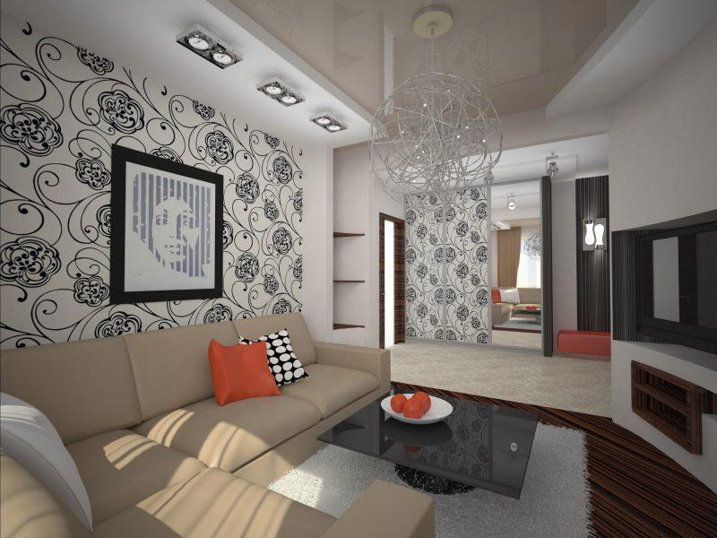 Дизайн гостиной 18 кв.м в панельном доме