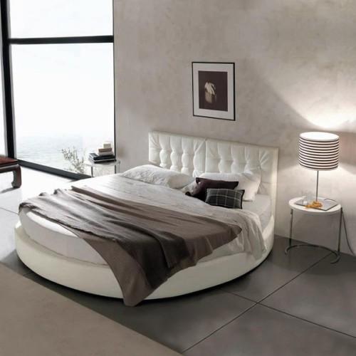 Кругле ліжко в інтер'єрі