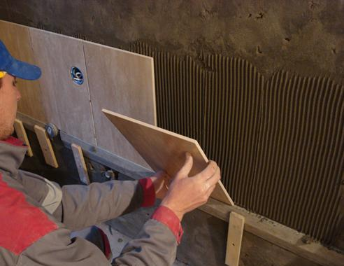 укладання плитки на стіни