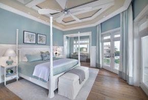 Блакитний колір в інтер'єрі спальні
