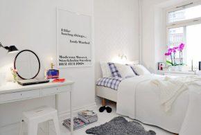 Скандинавський стиль в спальні