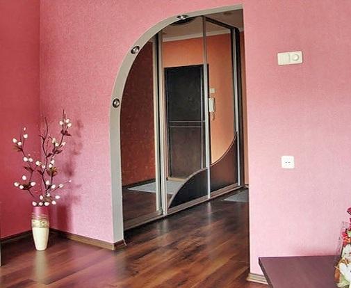 арки міжкімнатні з гіпсокартону фото