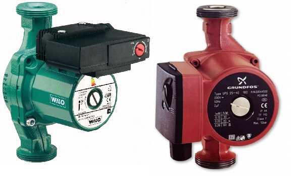 Циркуляционные насосы в системе отопления