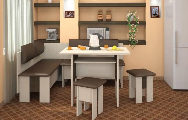мягкий уголок для кухни модульной конструкции