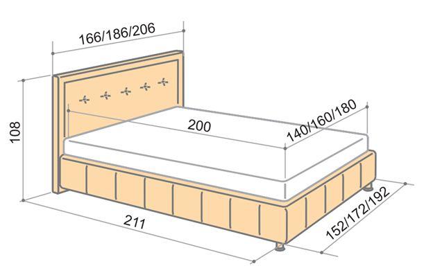 Розміри односпального ліжка