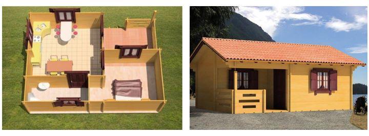 Дачный дом 6х5 из СИП