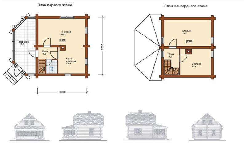 Вариант проекта дачного дома