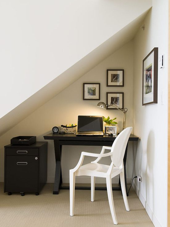 Создание домашнего офиса в нише квартиры