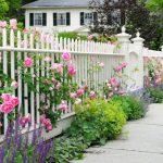 Як прикрасити забор на дачі