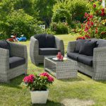 Мебель из искусственного ротанга для сада