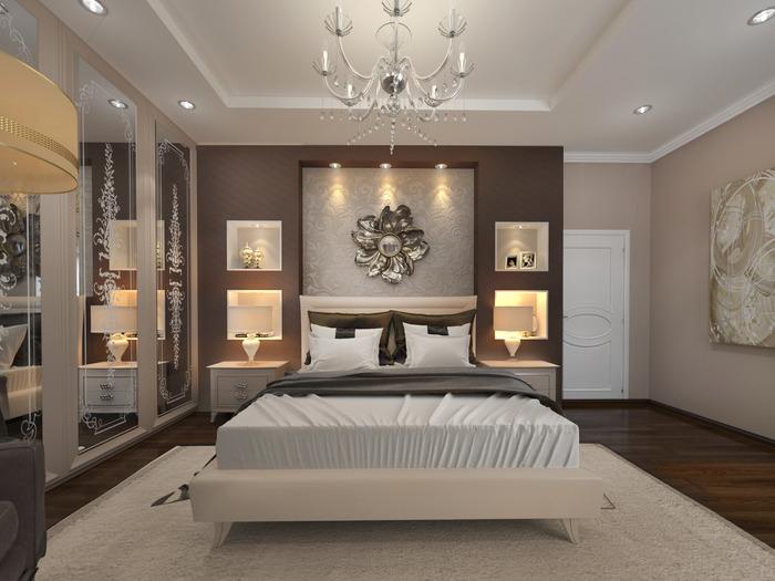 Дизайн спальни от студии ZANKO