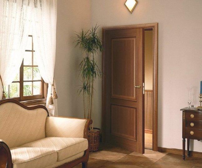 Межкомнатные шпонированные двери в интерьере
