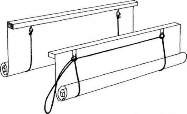 Как сделать механизм римской шторы своими руками