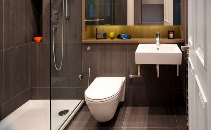Современная ванная комната - подвесной унитаз
