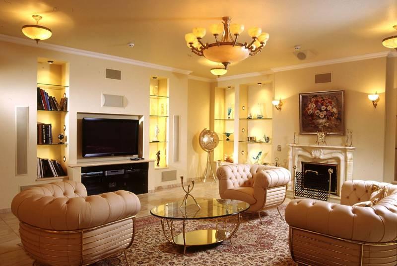 Дизайн интерьера гостиной в классическом стиле