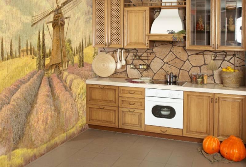 Фотошпалери на кухню - основний декоративний елемент