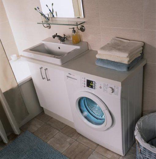 установка пральної машинки у ванній