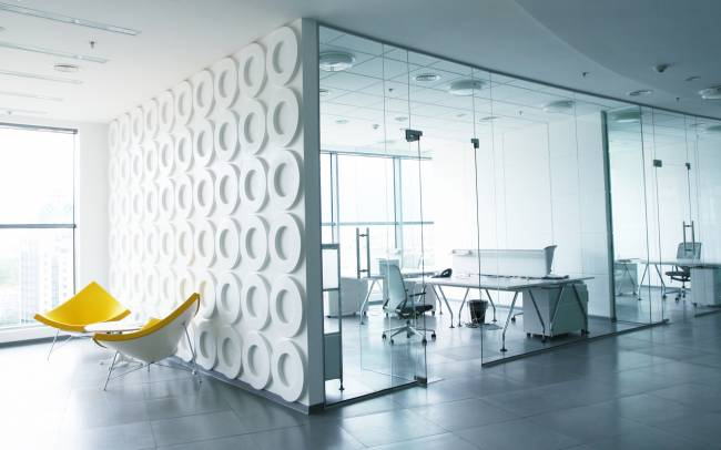 Современный дизайн интерьера офиса в стиле хай-тек