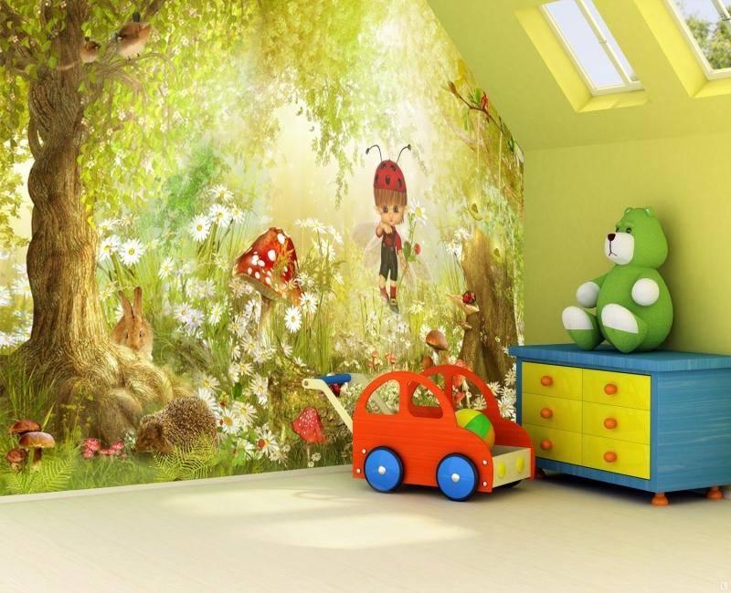 Фотообои в детском интерьере