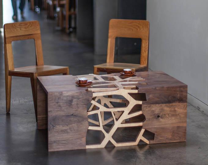 Этот дизайнерский столик украсит интерьер любой дачи