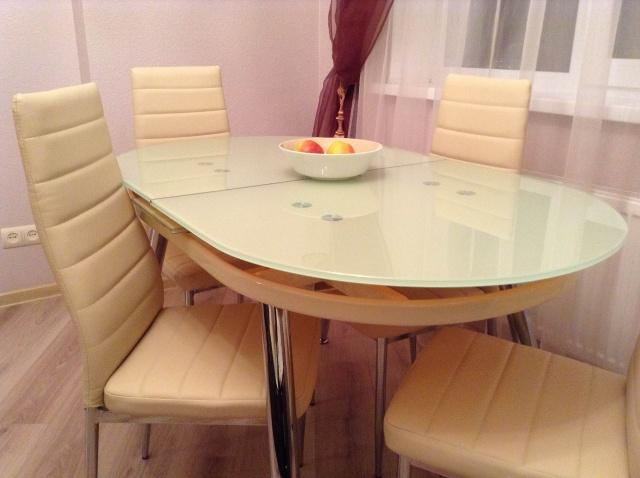овальный раздвижной стол для кухни