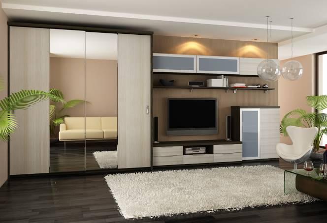 шкаф для гостиной в современном стиле фото