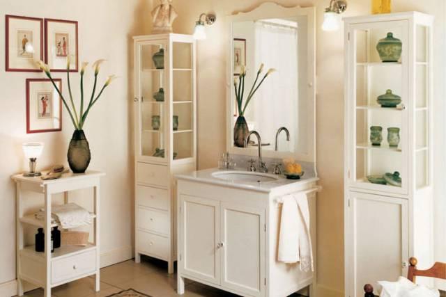 Меблі для ванної кімнати в стилі прованс