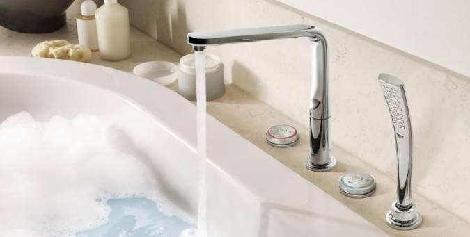 Врезные качественные смесители для ванной