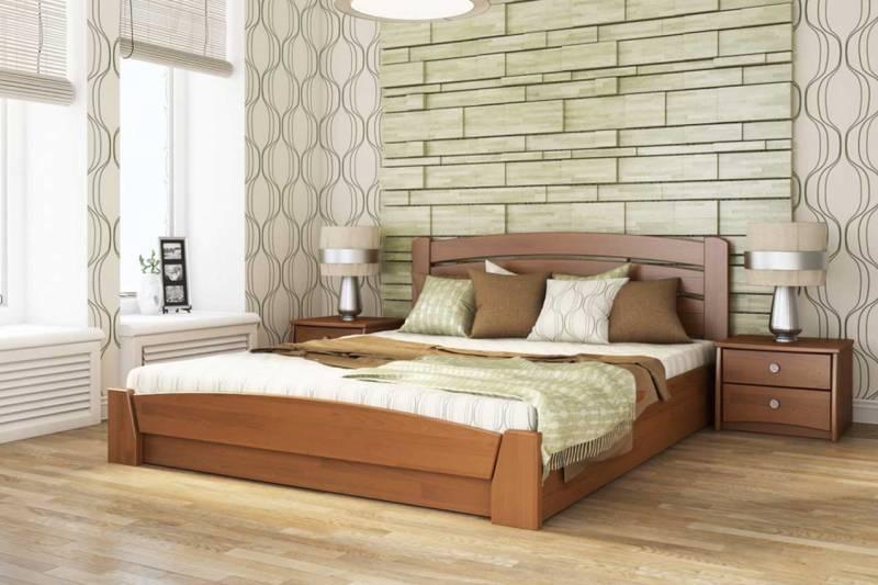 кровати из дерева с ящиками