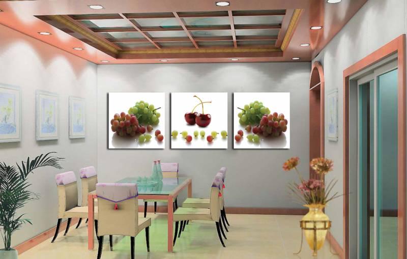 Триптих в интерьере кухни