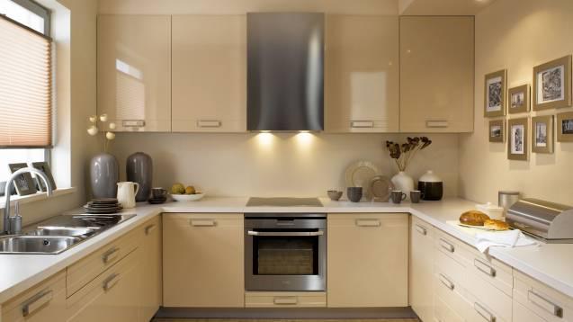Современные варианты оформления кухонных фасадов