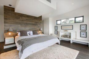 Акцентна стіна в спальні — 30 ідей
