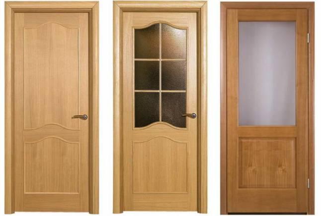 Деревянные межкомнатные двери шпонированные