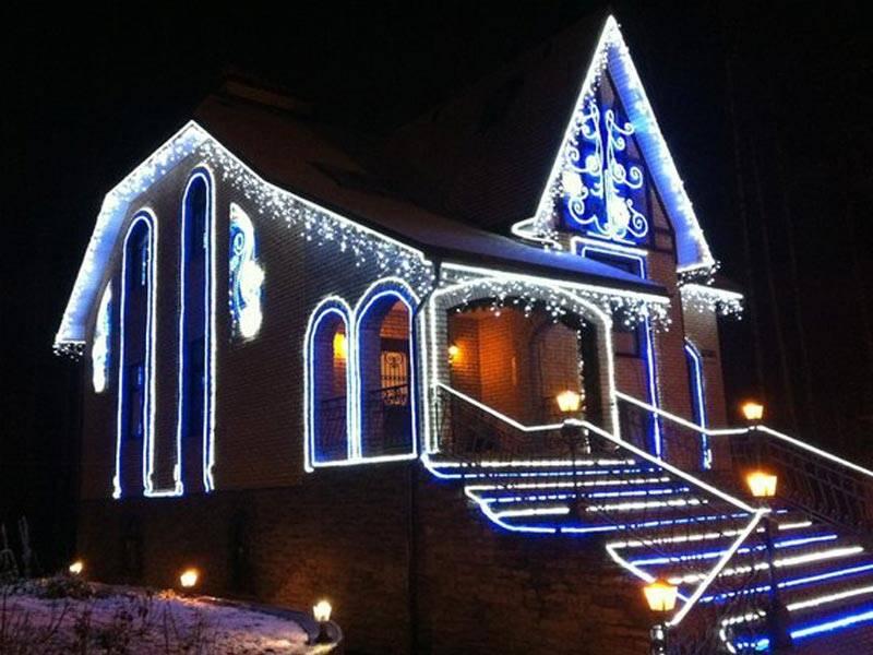 LED освещение новогоднее для фасадов