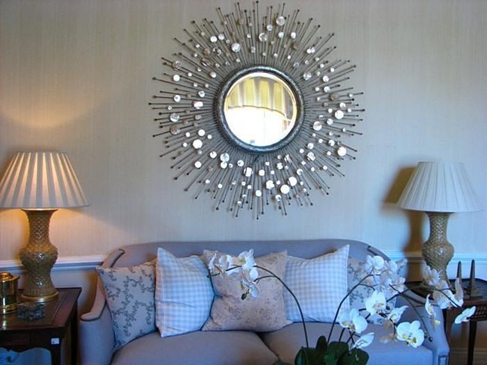 зеркало солнце в интерьере