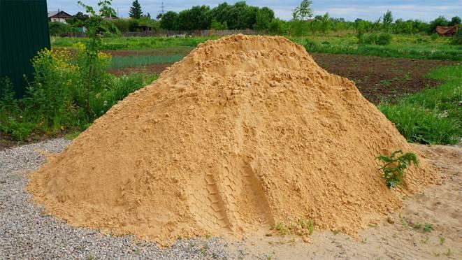 песок для строительства