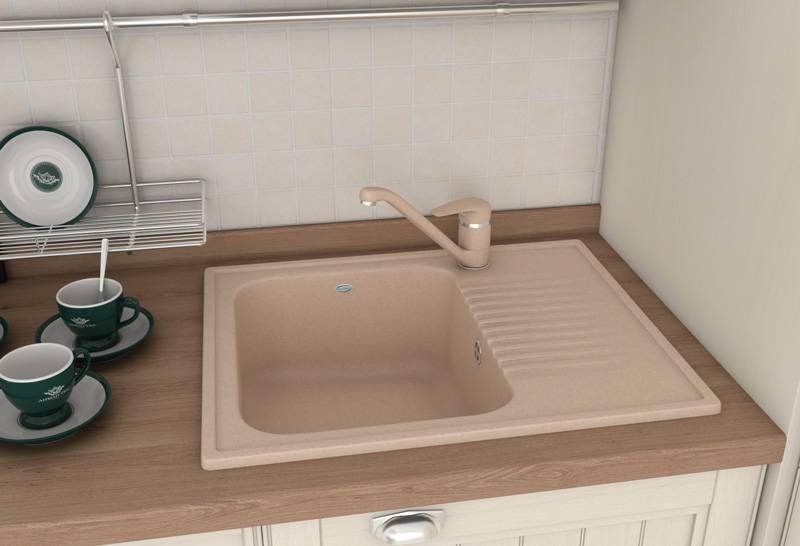 Кухонная мойка из искусственного камня: ее особенности