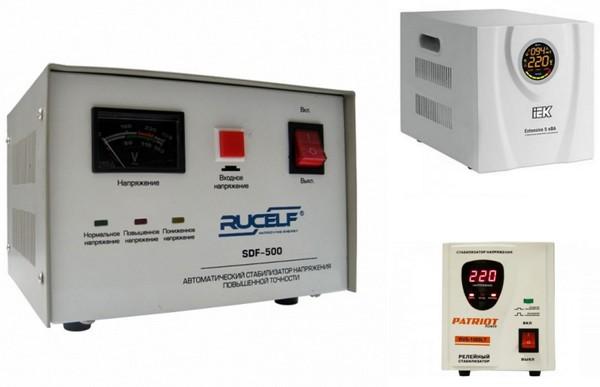 Електромеханічний, електронний та релейний стабілізатори