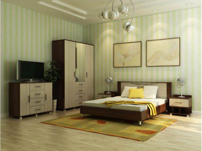 Модульная спальня Венеция (венге/дуб белфорд)