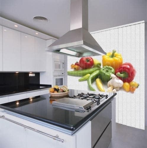 Фотожалюзи для кухни с ярким макроизображением