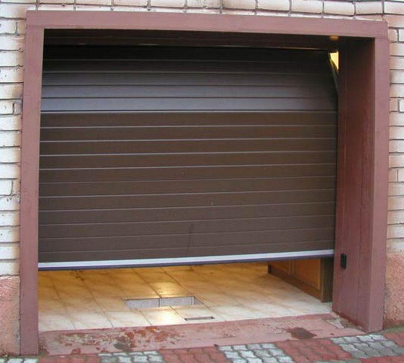 рулонные автоматические гаражные ворота