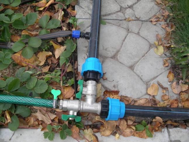 дачный водопровод из полиэтиленовых труб