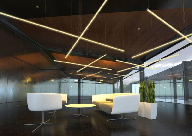 подвесные LED-светильники в интерьере