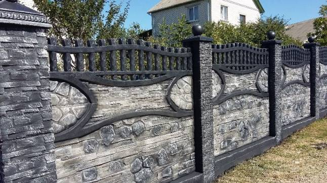 какой краской покрасить забор из бетона
