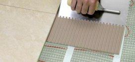 Монтаж плитки на теплу підлогу