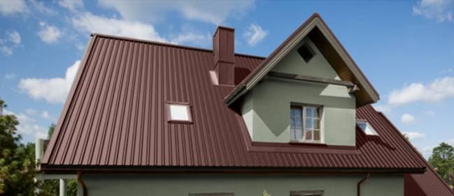 крыша для частного дома из профлиста