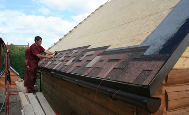 крыша для частного дома из мягкой черепицы