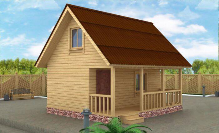Каркасно-щитовий дім з бруса