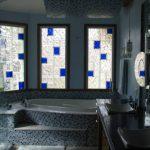 применение стеклоблоков в интерьере