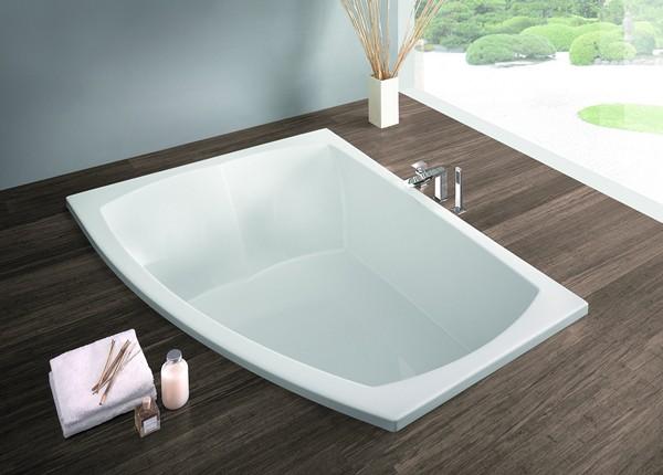 Встроенная ванна с душем
